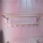 浴巾架 卫浴 卫生间双层折叠浴巾架 活动毛巾架太空铝毛巾杆 浴室置物架